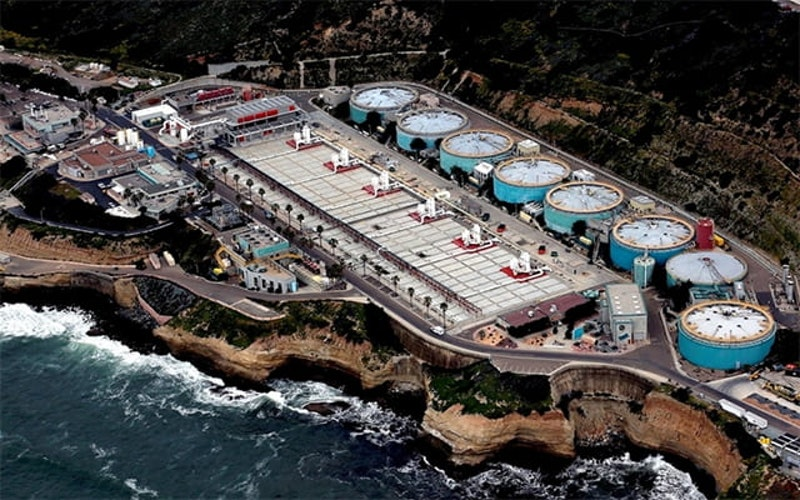 San Diego county wastewater treatment plant point loma