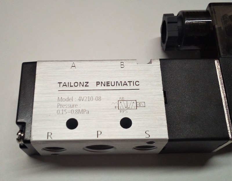 A typical solenoid valve showing the acceptable pressure allowance of the valve.