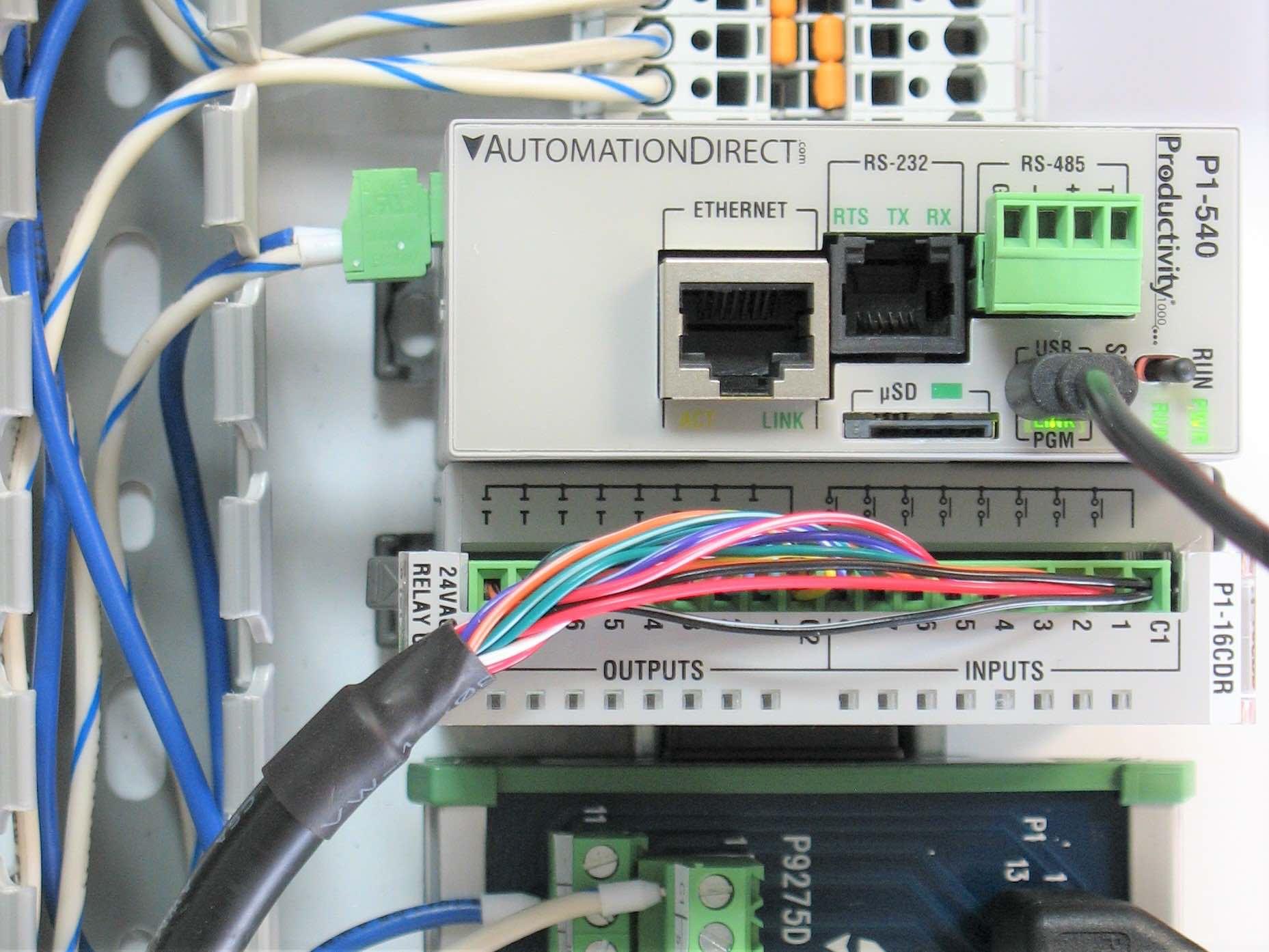 PLC showing communication protocols