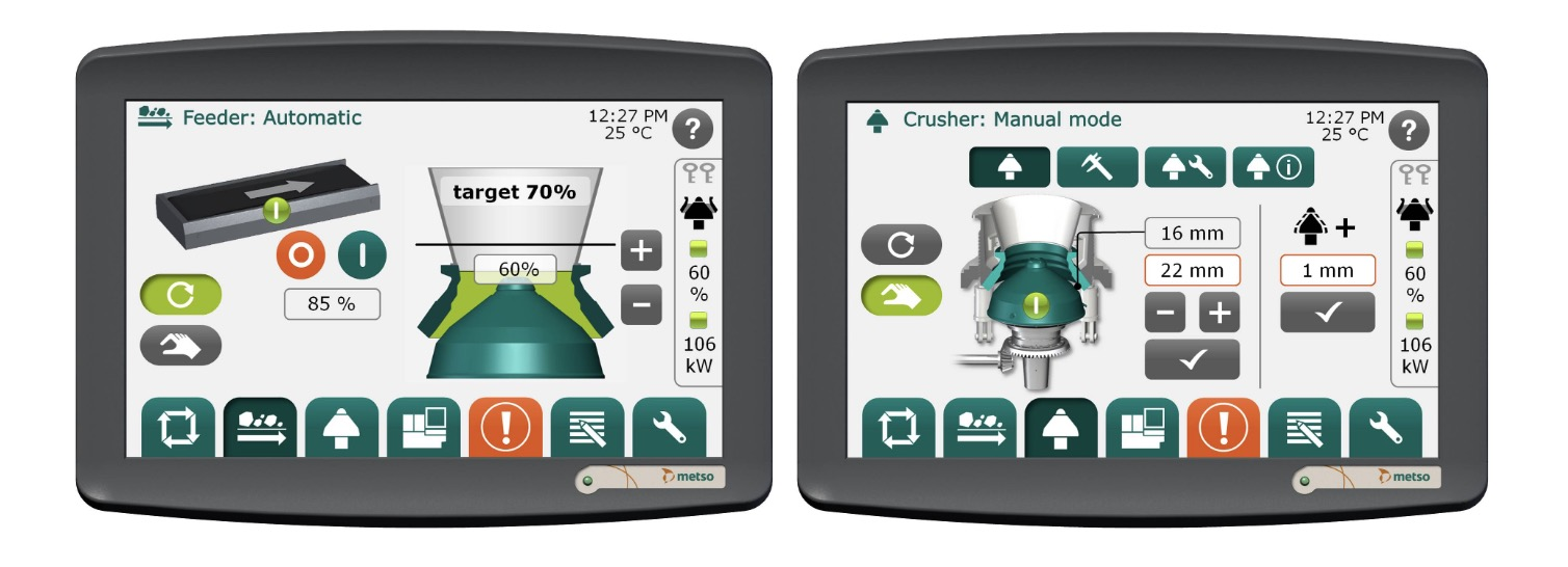 Metso IC crusher automation interface