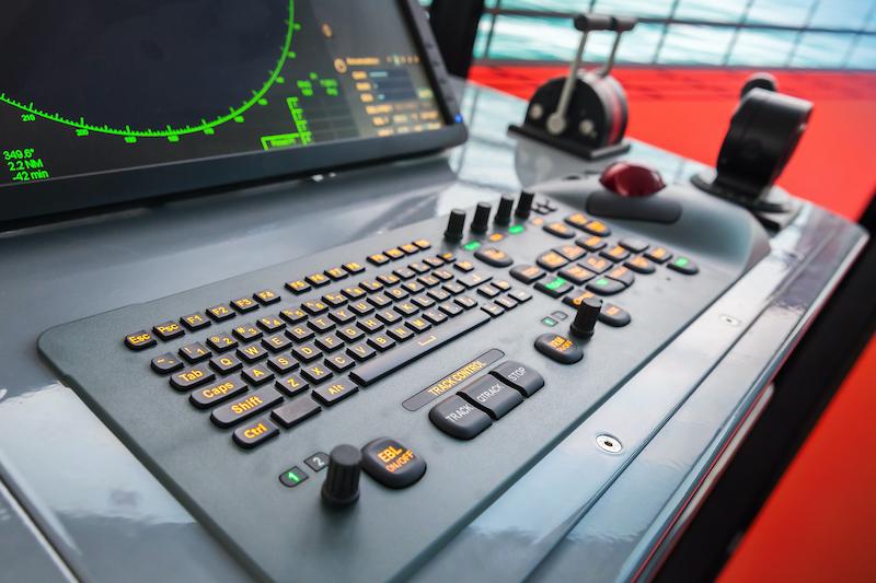 control panel on ship