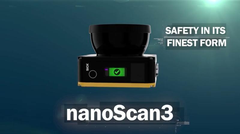 SICK's nanoScan3 safety scanner