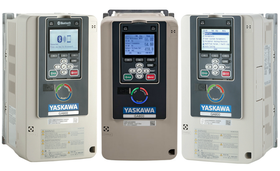 Three angles and screens of the Yaskawa GA800