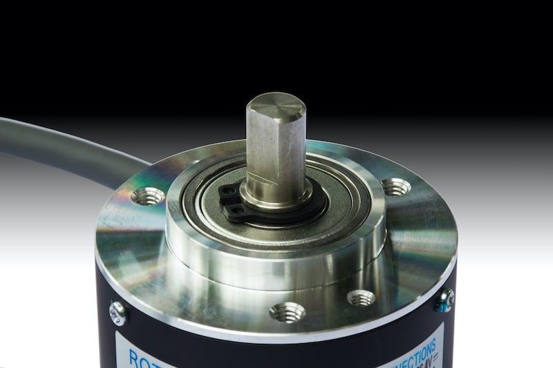 Closeup of a rotary encoder