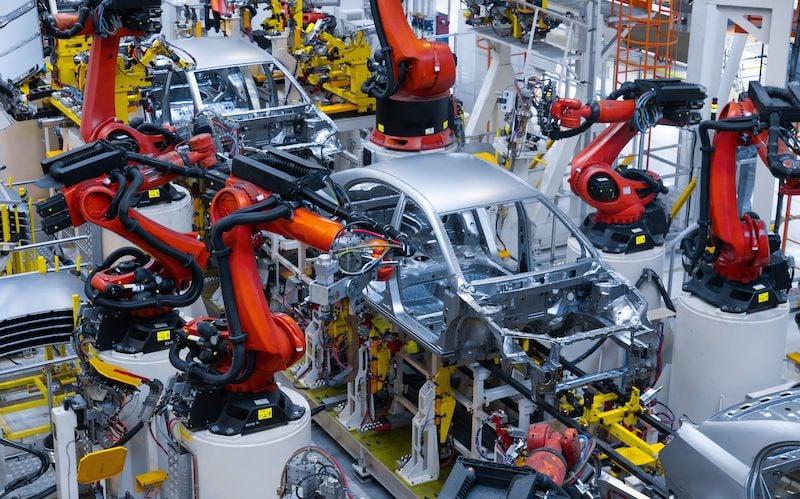 automated automotive manufacturing robots