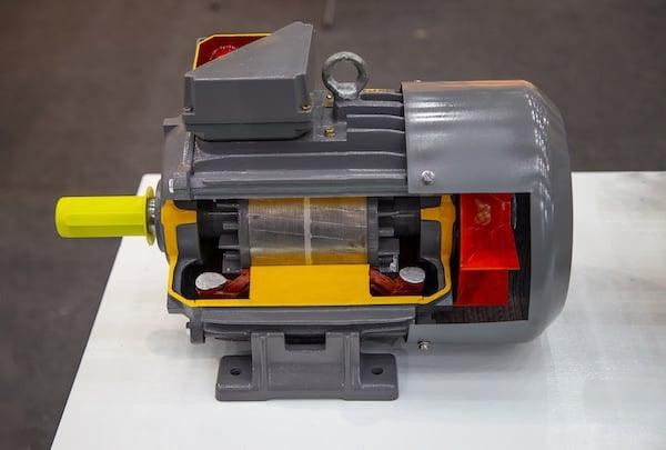 cutaway of three-phase motor