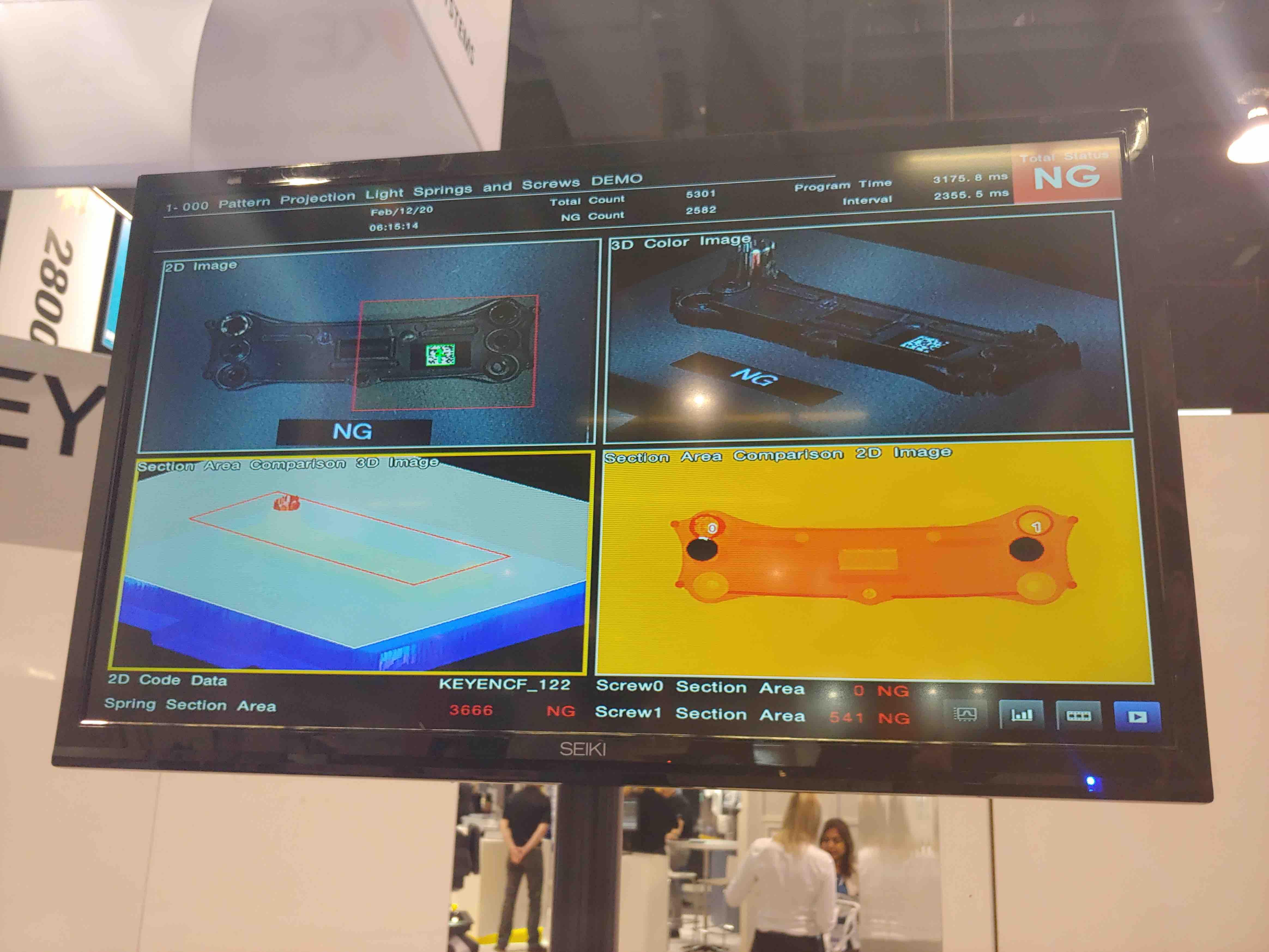 keyence vision systems on display
