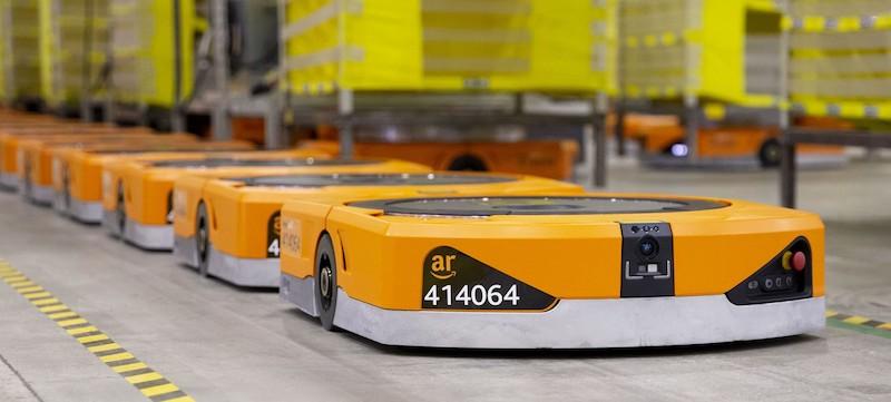 Amazon automated warehouse robots