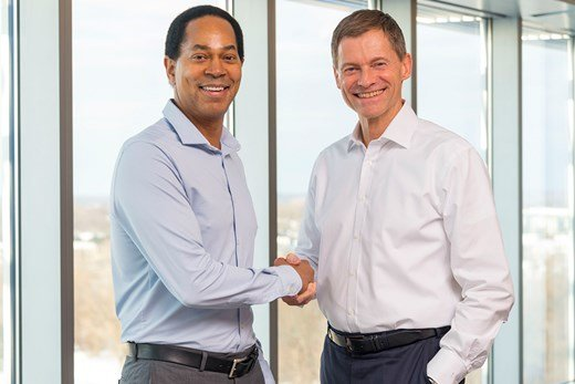 CEO's shaking hands