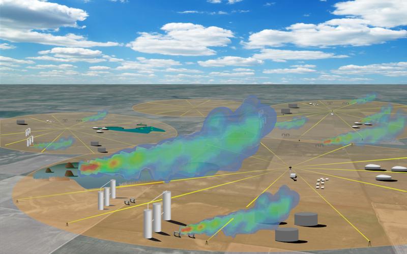 gas field methane leak detection