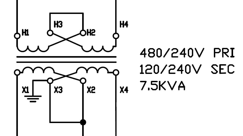 Transformer Wiring Diagram 480 To 120