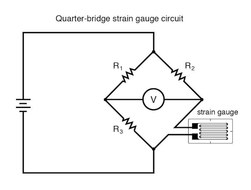 quarter-bridge strain gauge circuit