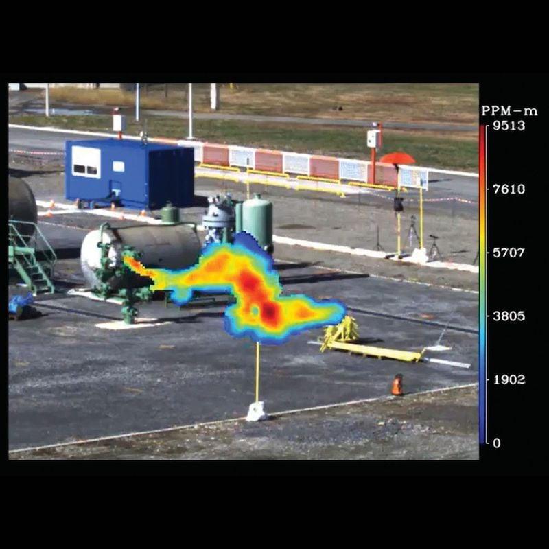 Methane leak monitoring