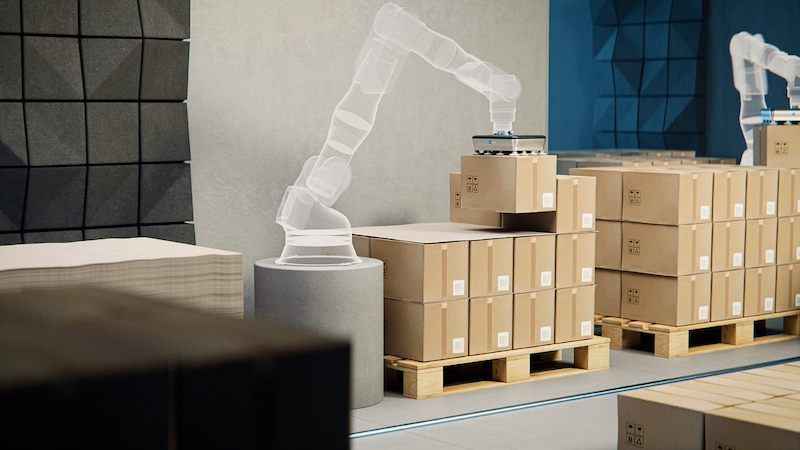 OnRobot VGP20 palletizing boxes