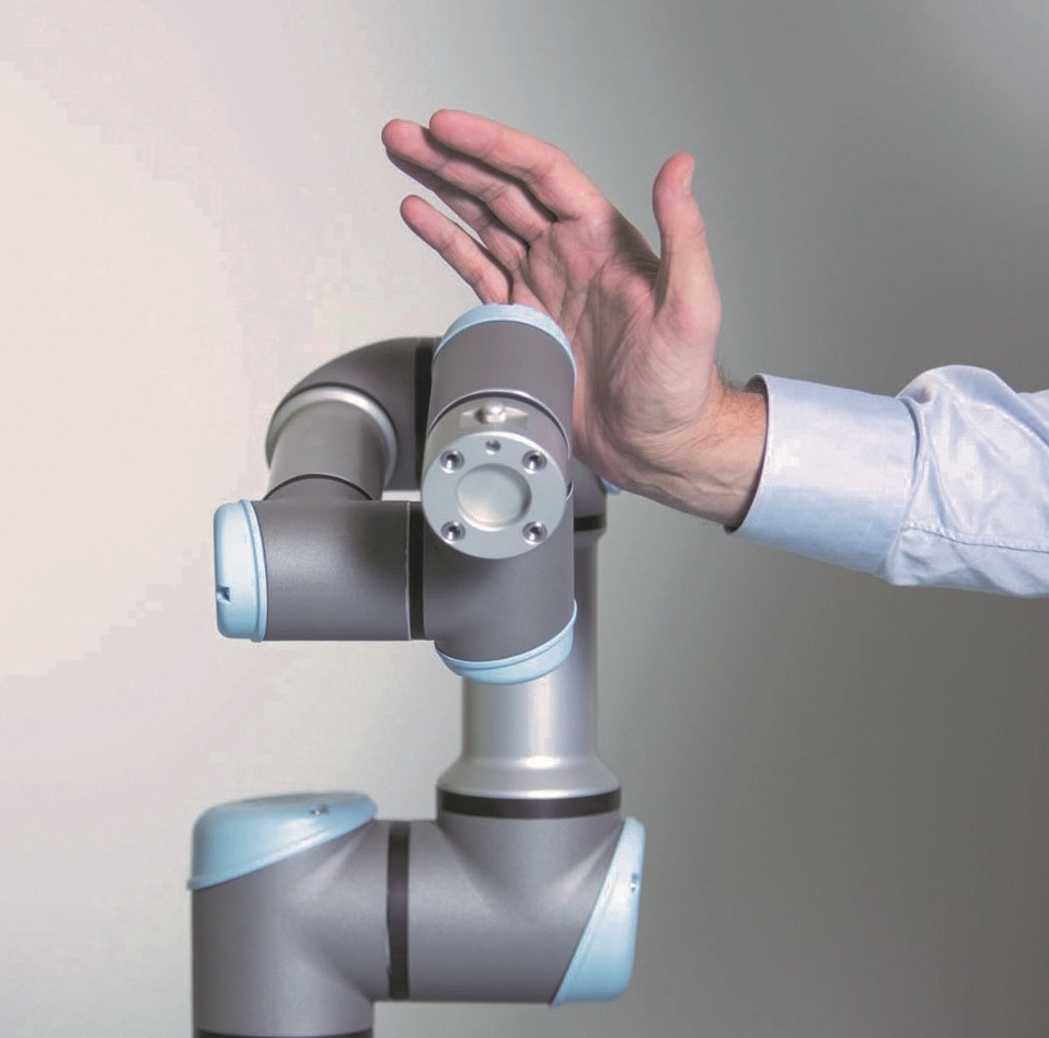 universal robot showing touch sensing technology