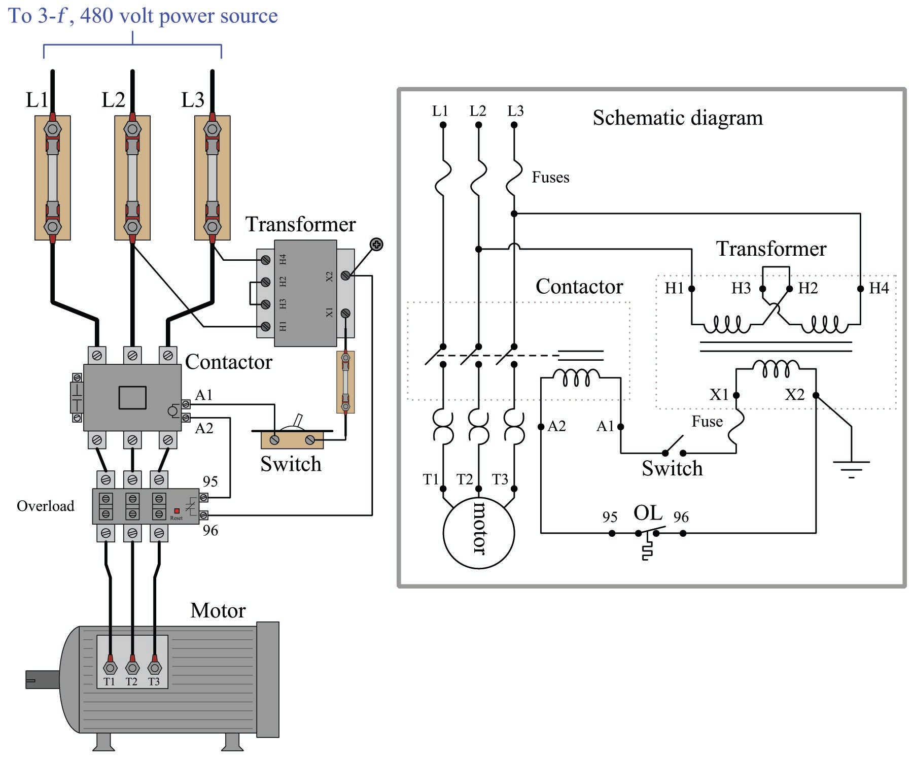 On Off Electric Motor Control Circuits Discrete Control System Elements Automation Textbook