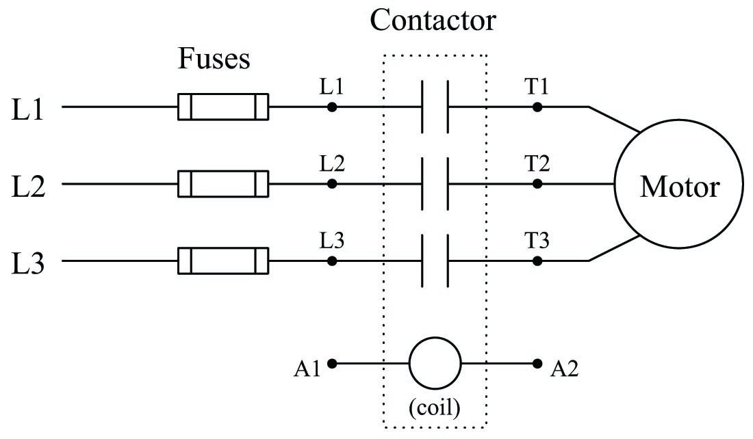 on  off electric motor control circuits
